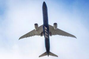 El prototipo del 777X en el aire